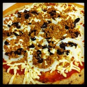 Homemade-ish Vegan Pizza with Rustic Crust