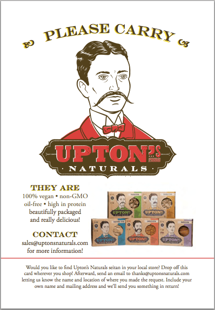 upton's naturals setian request card
