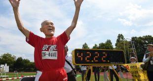 宫崎以44秒22成績完成100米短跑比賽。(網上圖片)