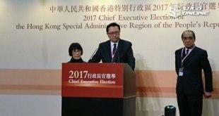 選管會主席馮驊表示,今次選舉投票及點票過程順利。(黃展曦攝)