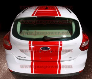 2011 2012 2013 Ford Focus 5 door Hatchback Over Top Stripe Kit
