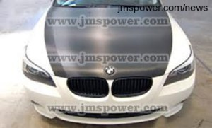 DJM matte black vinyl wraps used on BMW hood
