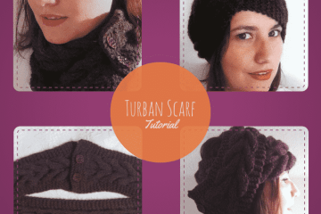 Knitted Turban Scarf