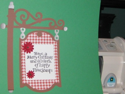 cricutcartridgechristmasnoelsignpost