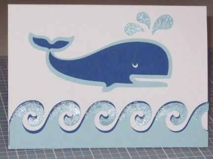 cricut card idea get whale soon