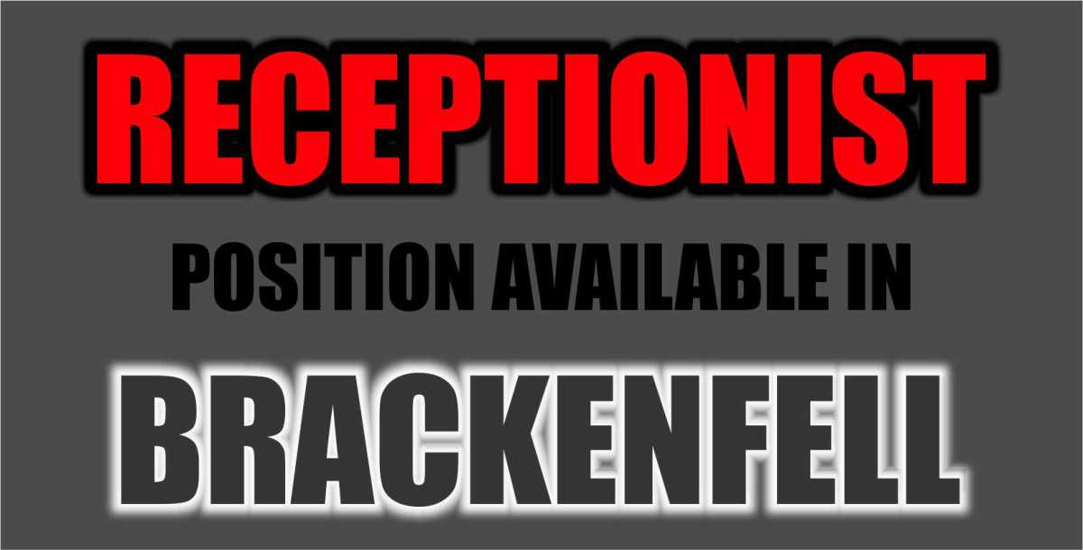 RECEPTIONIST POSITION AVAILABLE IN BRACKENFELL
