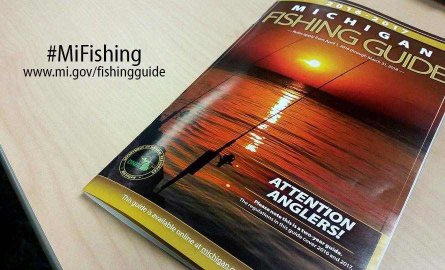 2016 2017 michigan fishing guide available at license for Michigan dnr fishing guide