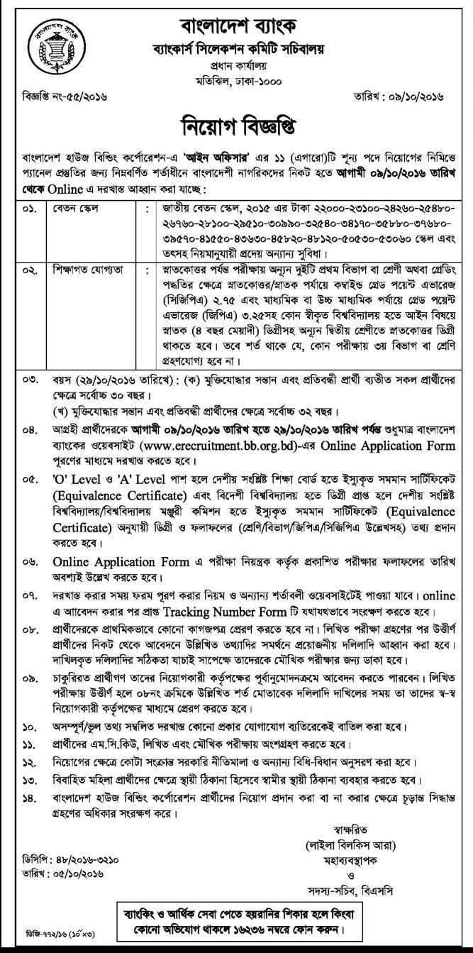 BHBFC 11 Posts Govt Job Circular 2016
