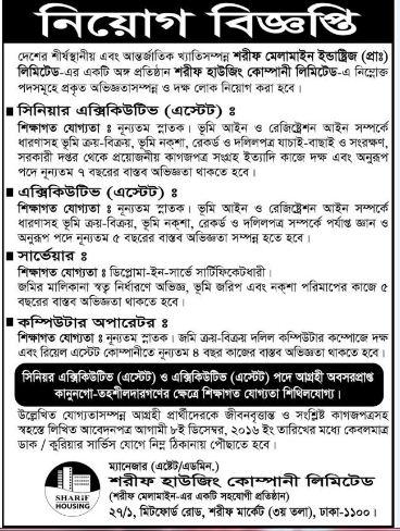 Sharif Melamine job circular 2016