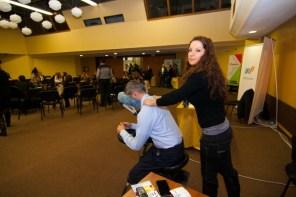 Една от най-търсените услуги на изложението, беше масажът, осигурен от Motiviram.bg