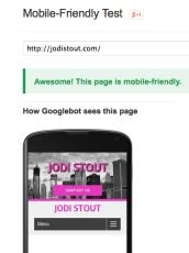 JodiStout.com mobile ready