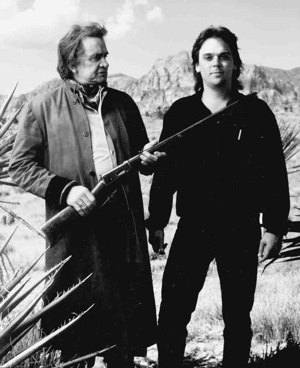 Johnny Cash and Hugh Waddell