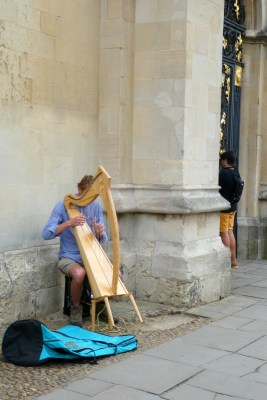 Trip - A busker we passed on the walk to Wadham