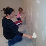 Zoe, Mommy, and as yet, unborn Ava all working on the space