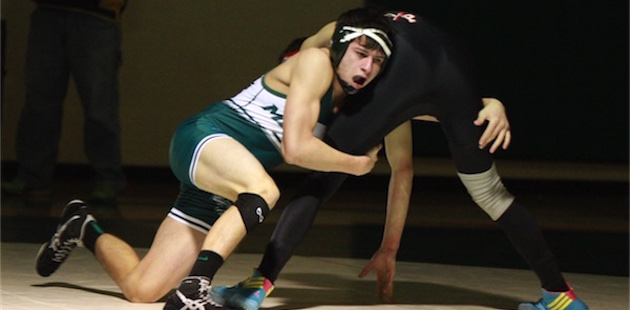 Mendon grapplers take down White Pigeon in BCS dual