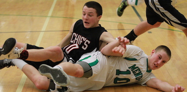 Mendon outmuscles White Pigeon in important BCS East boys basketball meeting