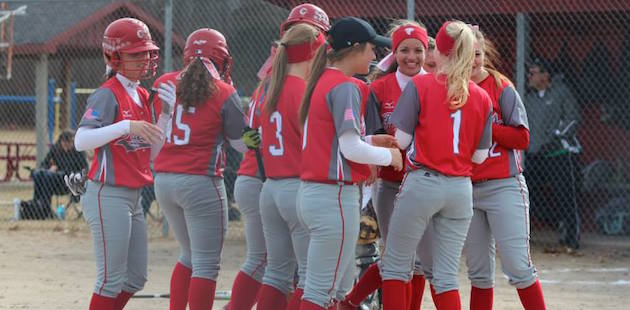 Constantine softball sweeps Mendon in 2015 debut