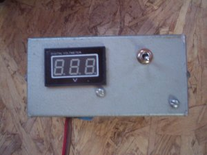 A voltmeter with on/off switch, to minimize draw**.