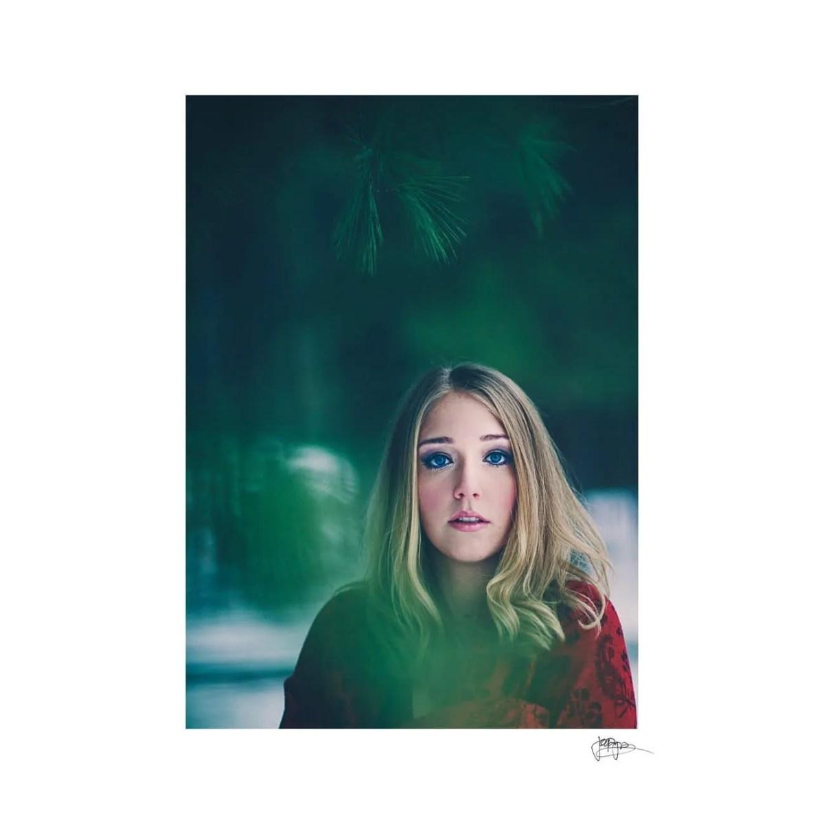 raleigh portrait photographer shot through pines