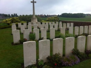 Royal Irish Rifles graves at Spanbroekmolen, Battle of Messines