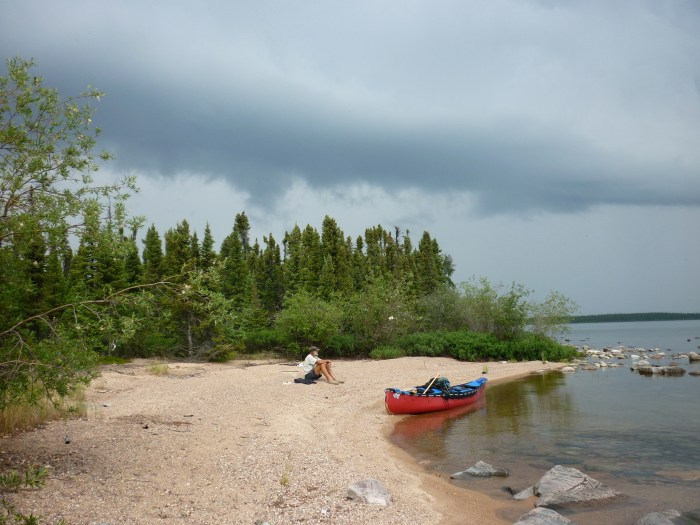 Stop on small un-named island south of Morin Island for lunch and an assessment of the deteriorating weather