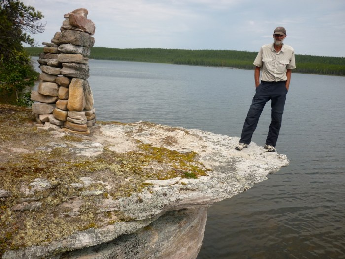 Inukshuk behind our Otter Lake campsite