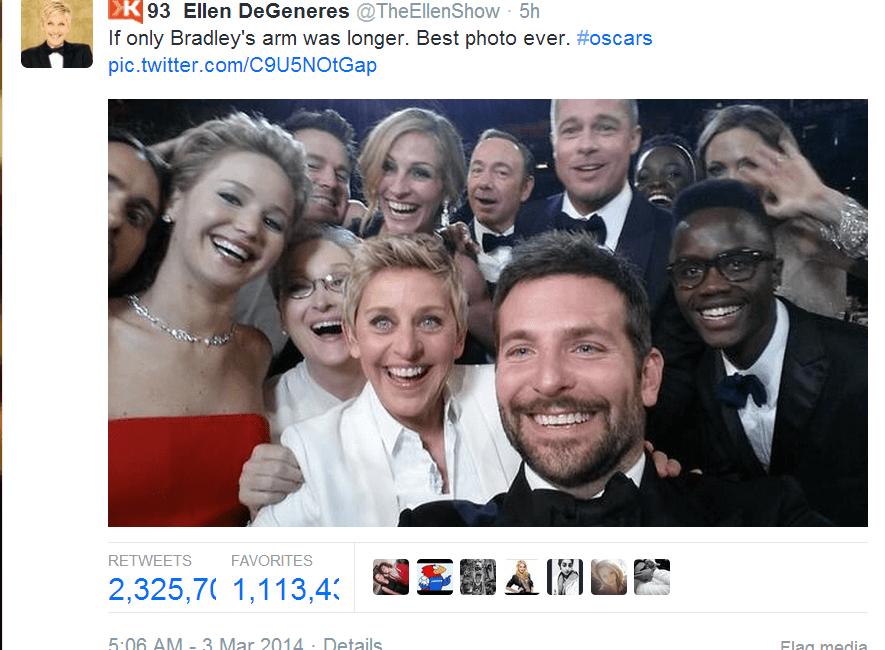 3 Personal Branding Lessons from Ellen DeGeneres Oscars Selfie