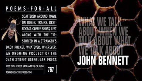 John Bennett - Poems for all by Richard Hansen