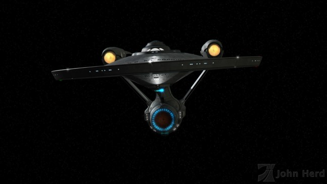 3D render of alternate USS Enterprise NCC-1701