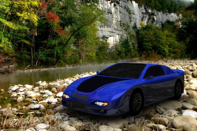 3D digital car composited into image