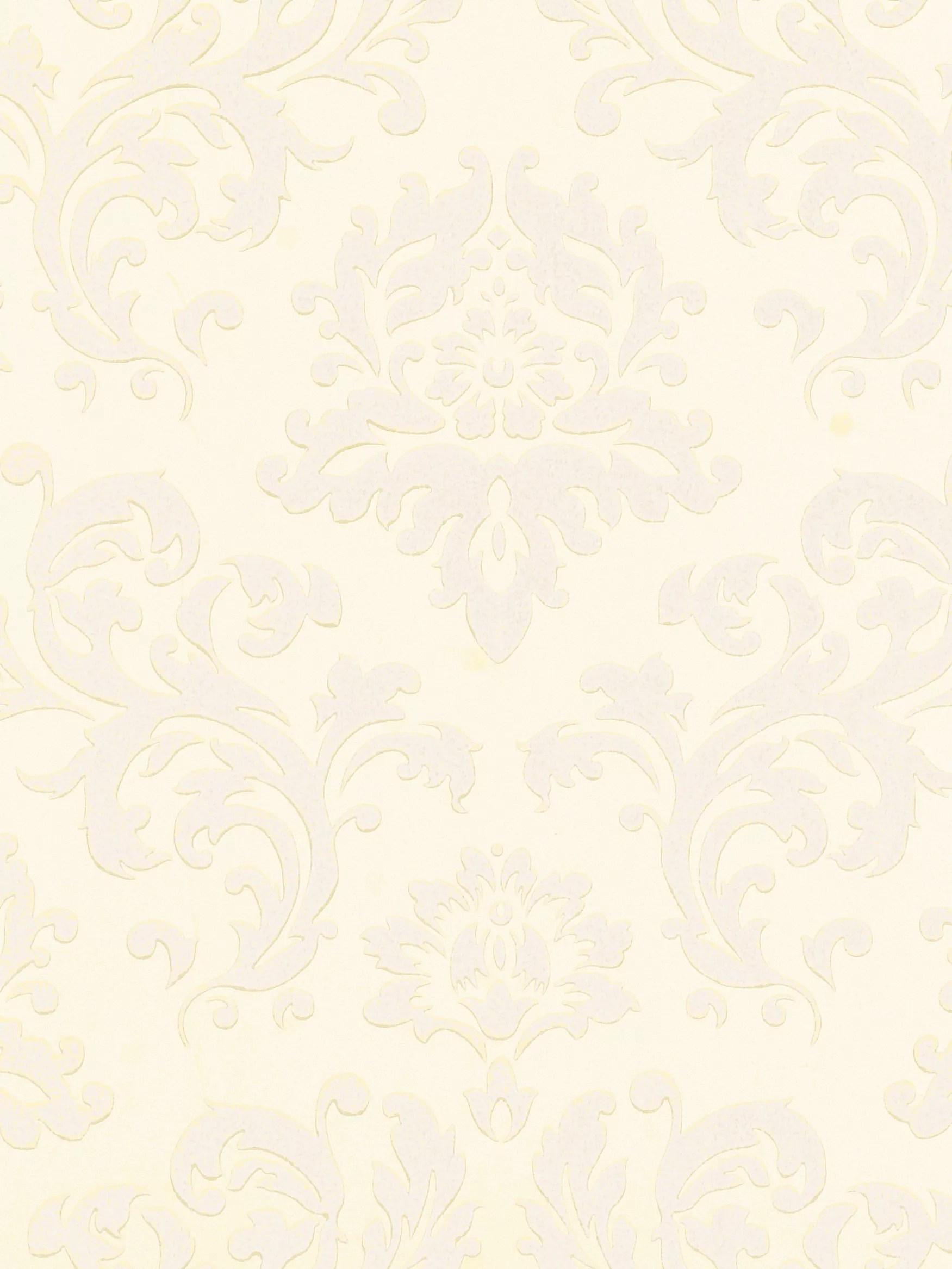 Buy John Lewis Damask Wallpaper, Oyster | John Lewis
