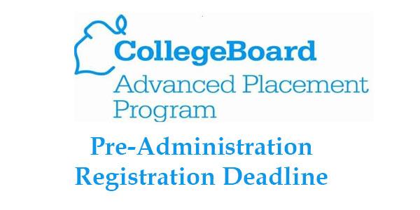 AP Exam Registration Deadline