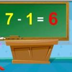 Subtraction | 1 Minus Table Twice | Home School Tutorial Online Math #アイドル #idol #followme