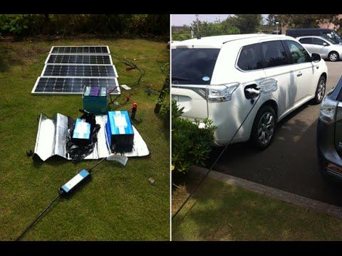 ソーラーパネルでEVカーへ充電! #太陽光発電 #エコ #followme