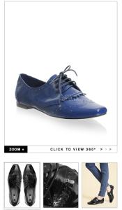 ASOS Patent Brogue Fringe Flat Shoe