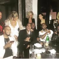 Superfriends: Jay Z, Beyonce, Kanye West, Kim Kardashian, Alicia Keys, Swizz Beatz, Puff Daddy & Cassie Pose It Up For Post VMA's Snap