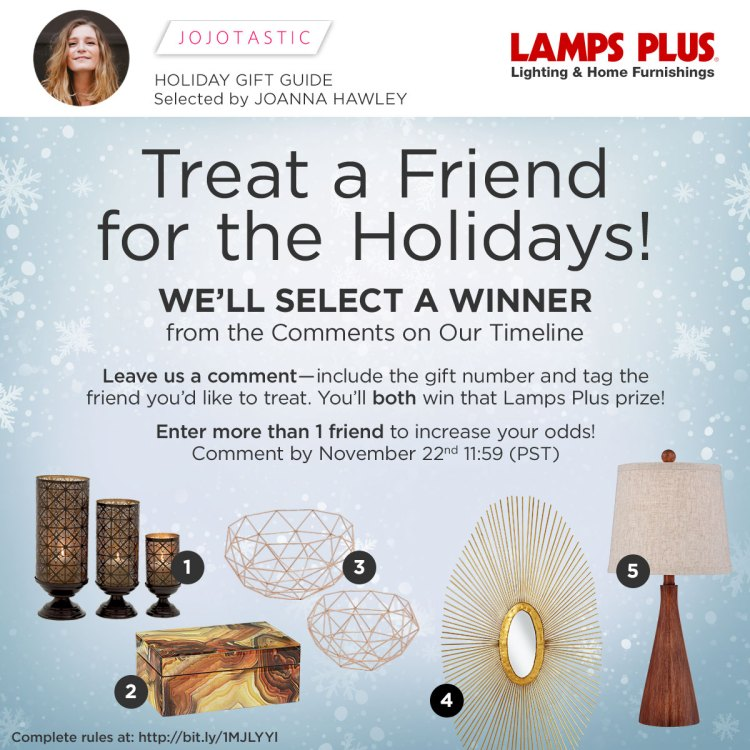 Enter to win a gift for you and a friend from @Lamps Plus!