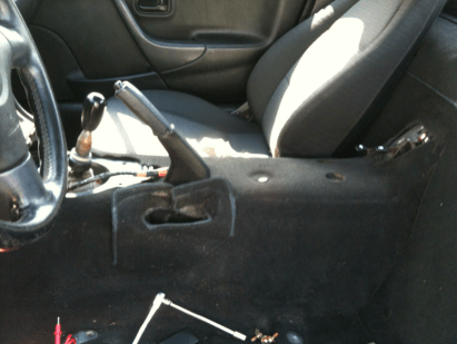 Mazda Miata Removed Center Console for Shorty Console