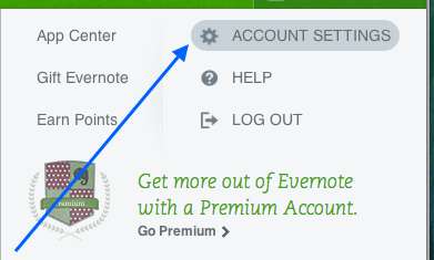 evernote-webpage-account-settings