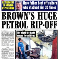 Earthquake rocks the North of Britain - Daily Express - February 2008
