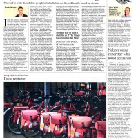 York Royal Mail postal workers leave their bikes to go on strike - The Times - October 2009