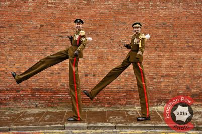 Performance photographer in York - Stilt walking sargeant majors