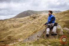 Commercial Photography Sports - A model looking at the Lake District View