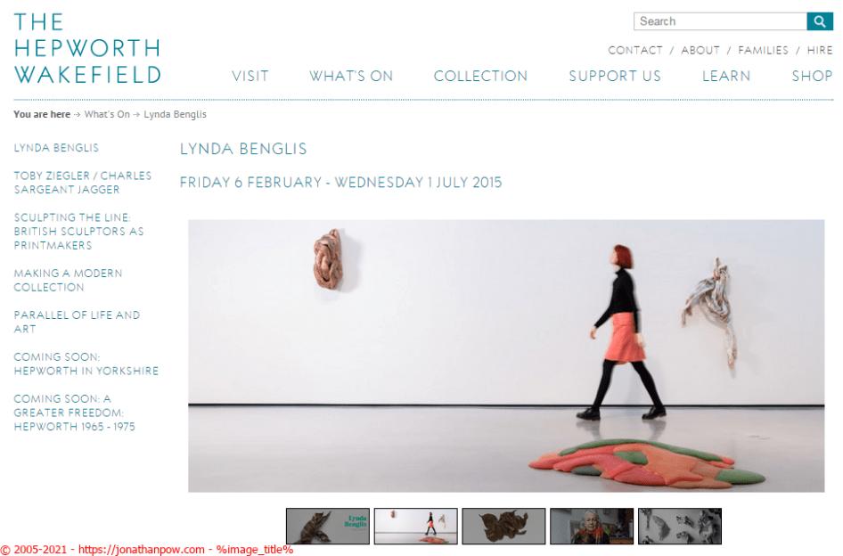 Hepworth Wakefield gallery - Lynda Benglis
