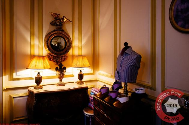 Examples of collars in the stunning period showroom - Chrichton Bespoke
