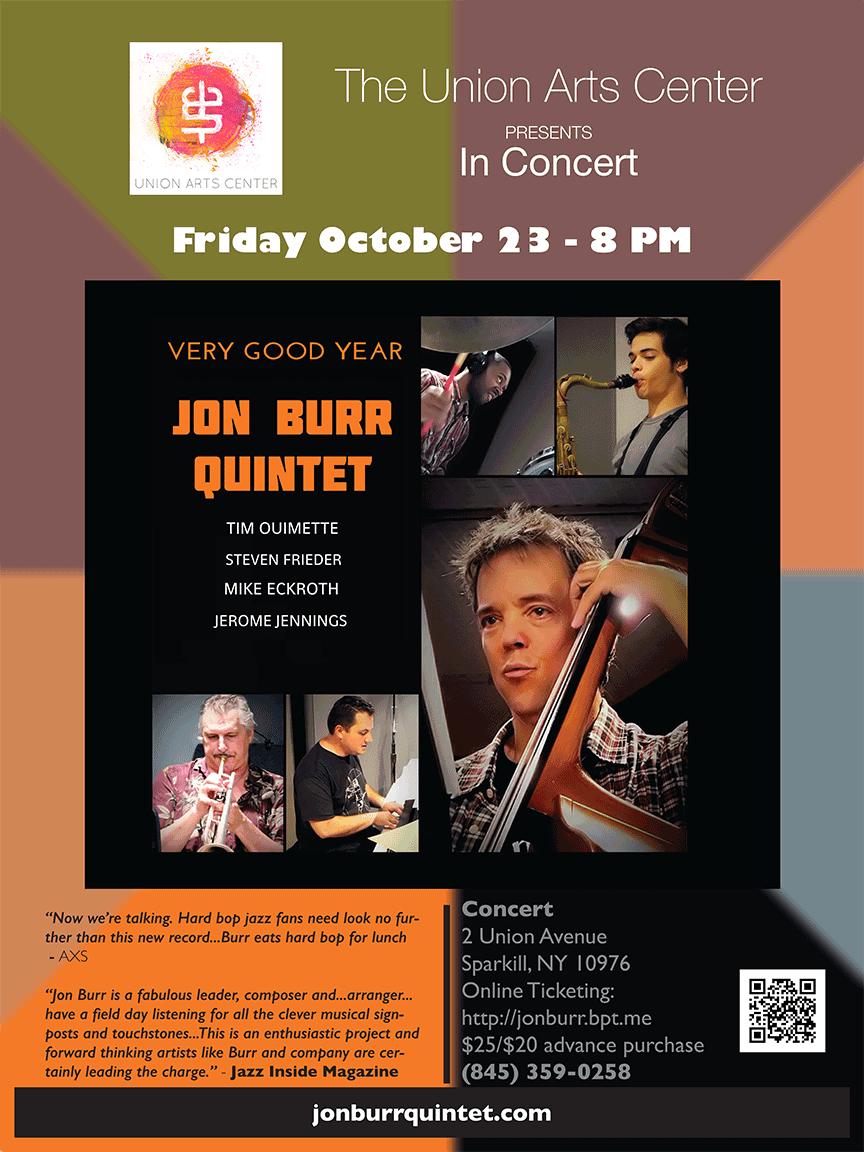 Union Arts Center Poster for the Jon Burr Quintet