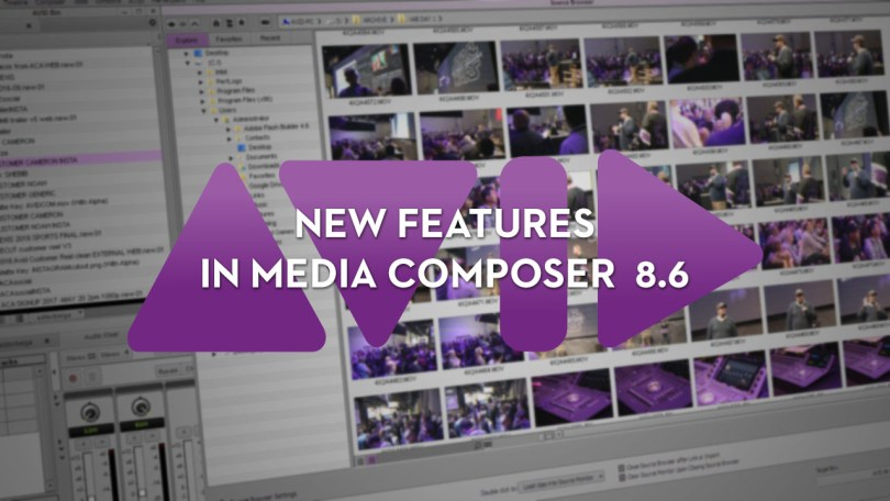 new features in Avid Media composer 8.6