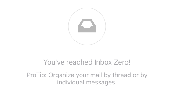 My inbox as I started typing this post up.