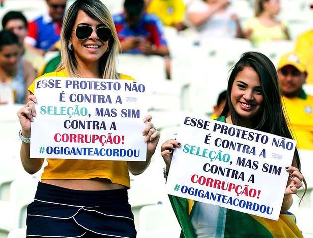 protesto estádios