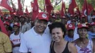 O deputado federal Valmir Assunção e a secretário Vera Lúcia Barbosa - FOTO Divulgação - Jonas Santos - SITE